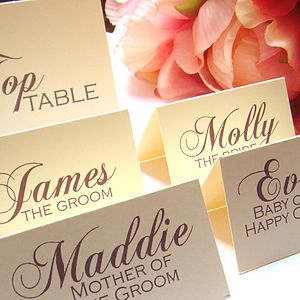 Divine Poppy name place/table numbers