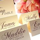 Poppy Name Place/Table Numbers