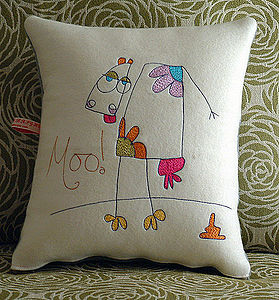 Personalised Moo Cow Cushion - cushions