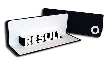 Result Pop Up Card Black