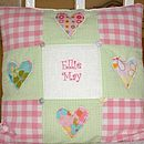 Funky Patchwork Hearts Cushion