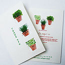 3 Herb Seeds 'Thank you' card