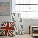 Hand-Painted Square Union Jack Or Star Canvas