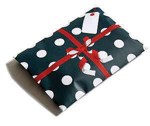 Let it Snow giftelope - ribbon & wrap