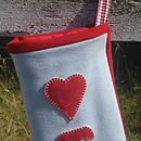 Blue Christmas Stocking Detail