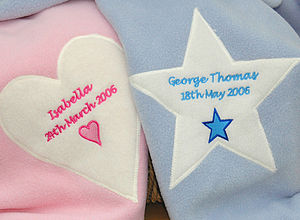 Personalised New Baby Name Blanket