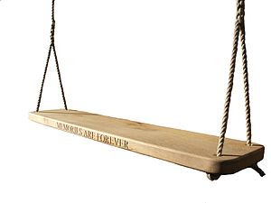 Personalised Two Seater Oak Swing - garden & outdoors