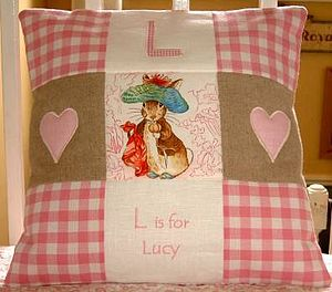Beatrix Potter © Alphabet Cushion - personalised cushions