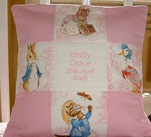 Patchwork Beatrix Potter© Name And Date - decorative accessories