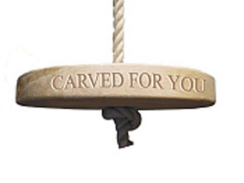 Personalised Oak Round Rope Swing