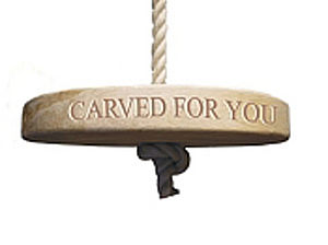 Personalised Oak Round Rope Swing - garden furniture