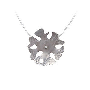 Large Campion Flower Pendant - necklaces & pendants