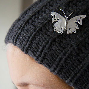 Large Butterfly Hairpin - womens