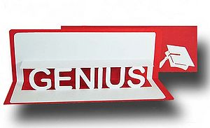 'Genius' Well Done Pop Up Card
