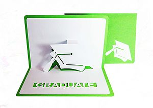 Personalised Graduation Cap Pop Up Card - graduation cards