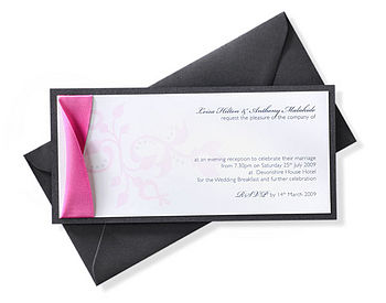 Baroque Mounted Invitation by Dragonfly Couture Stationary