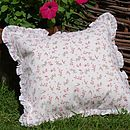 rose frill cushion 2