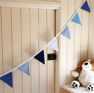 Blue Boys Bunting - children's room accessories