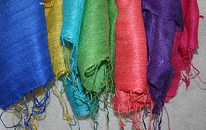 Vietnamese Bright Silk Scarf -11 Colours - scarves