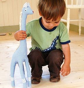 Fabric Gingham Giraffe