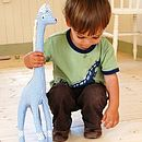 Blue gingham giraffe