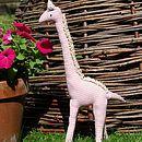 Pink gingham giraffe