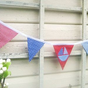 Boys Nautical Boat Bunting - children's room accessories