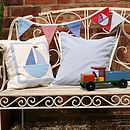 bunting with cushions