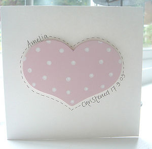 Personalised Heart Card - christening cards