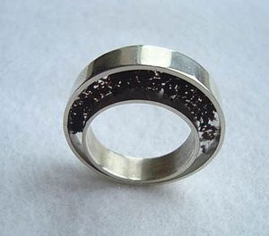 Handmade Silver and Tea Ring - rings