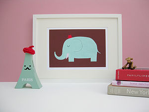 Orly the Elephant Fine Art Print