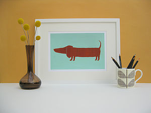 Hubert the Sausage Dog Fine Art Print