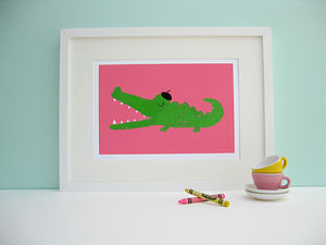 Claude the Crocodile Fine Art Print - canvas prints & art for children
