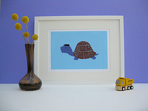 Didier the Tortoise Fine Art Print - canvas prints & art for children