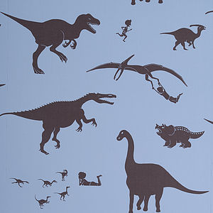 Sample 'Dya-Think-E-Saurus' Wallpaper - children's decorative accessories