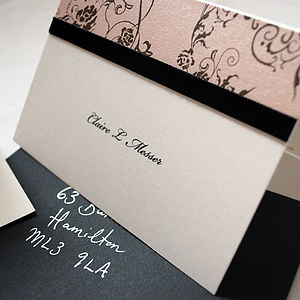 Boudoir Personalised Note Cards - box of 10 - cards & invitations
