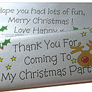 Personalised Christmas Party Chocolates