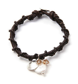 Brown Twisted Cockle Bracelet