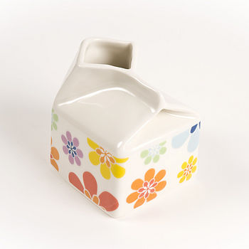 flower power small milk jug
