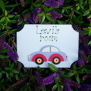 Boys Personalised Car Door Plaque