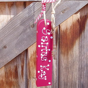 Personalised Santa's Key Fob