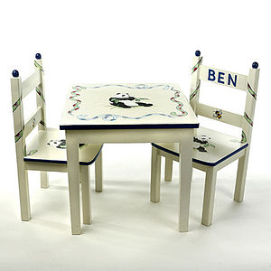 Hand Painted Single Table In Eight Designs.