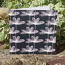 B&W Etched Floral Card