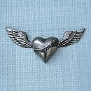 Vintage Style Flying Hearts