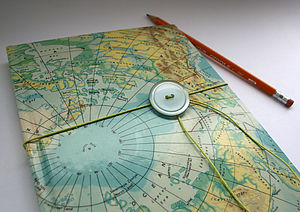 Vintage World Map Journal - stationery