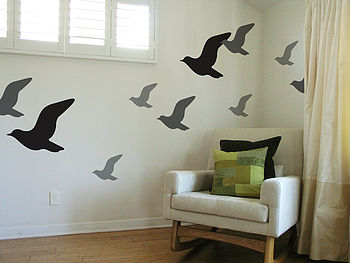Fly Birds Wall Stickers
