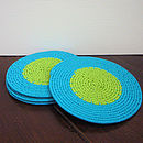 Telephone wire coaster set of 4