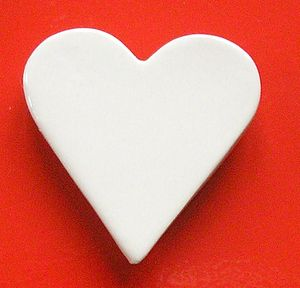 Magnetic Ceramic Heart