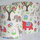 Handmade Lampshade in Elephant fabric by Cath Kidston