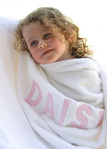 Personalised Towels - bathtime